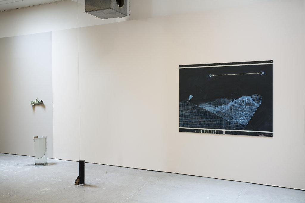 view of Spelling, solo exhibition, S!GNAL, Malmö, Sweden, 2016